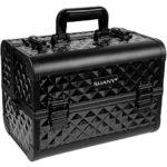 SHANY Makeup Artists Cosmetics Train Case Black Diamond