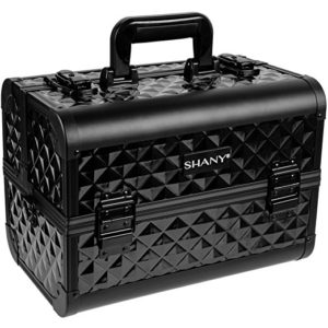 SHANY Makeup Artists Cosmetics Train Case Black Diamond