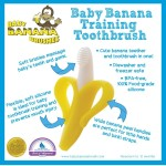 BABY BANANA Infant Bendable Training Toothbrush Yellow