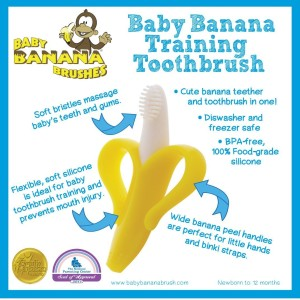 BABY BANANA Infant Bendable Training Toothbrush Yellow