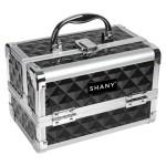 SHANY Cosmetics Dark Black Mini Makeup Train Case