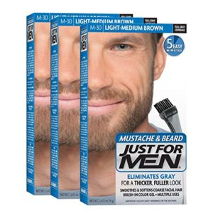 JustFOR MEN Mustache Beard Color Gel M-30 3-Pack