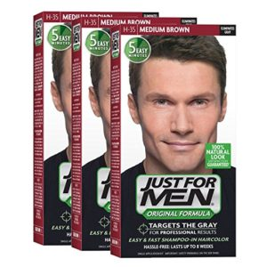 JustFOR MEN Hair Color Medium Brown H35 3-Pack