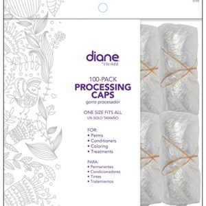 DIANE Hair Perms Coloring Plus Treatment Processing Caps 100-pack