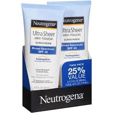 Neutrogena Ultra Sheer Sunscreen SPF 45 Twin Pack