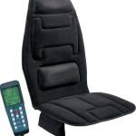 Relaxzen 60-2910 10-Motor Massage Seat Black Cushion Plus Heat