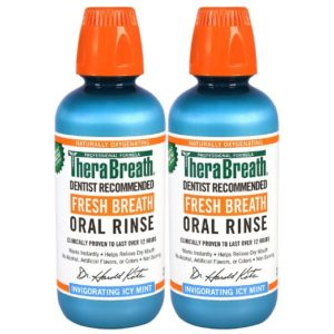 TheraBreath 2-Pack Fresh Breath Oral Rinse Icy Mint Flavor