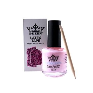 PUEEN Latex Tape Liquid Peel Off Cuticle Guard Pink 15ml