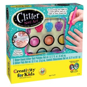 CREATIVITY KIDS Complete Glitter Manicure Nail Art Kit