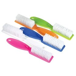 DTOL Assorted Colors Pro Nail Scrub Brushes 10 Pieces