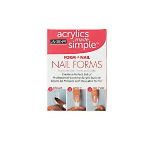ASP Acrylics Made Simple 24 Reusable Nail Forms