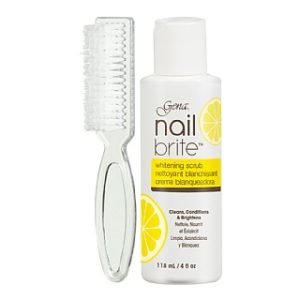 Gena Nail Brite Whitening Scrub Plus Brush