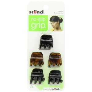 Scunci No-slip Grip Chunky Jaw Clips 5 Count