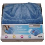 Spa Massage Foot Massager Blue Faux Fur Covered Foam Cushion