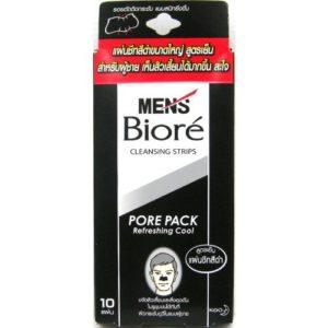 Biore Men Pore Pack Black Refreshing Cool 10 Pieces