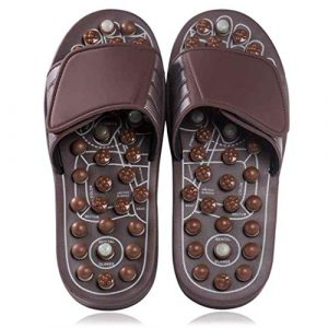 Brown Medium Size Reflexology Foot Massaging Unisex Slippers
