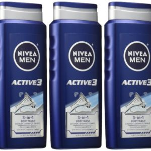 Nivea Men 3-Pack Active 3 Body Wash 500 ml