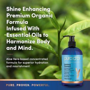 Pura dOr Enriching Aloe Vera Plus Essential Oils Organic Shampoo