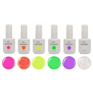 BMC 6 Pieces Color Gel Nail Art Polish