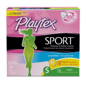 Playtex Sport Flex-Fit Technology Unscented Tampons