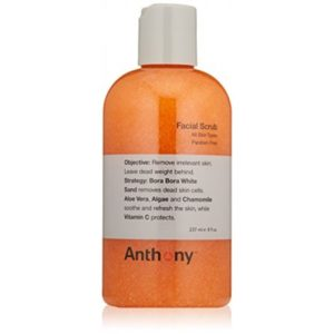 Anthony Gentlemen Paraben Free Facial Scrub 8 Fluid Ounces