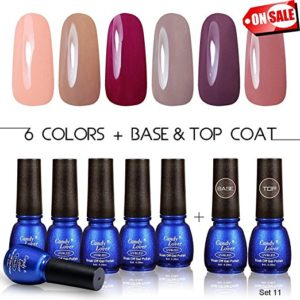 CANDY LOVER Gel Nail Polish Base Coat Toap Coat Set