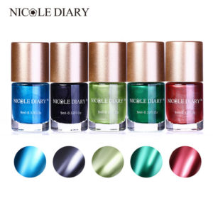 NICOLE DIARY Metallic Nail Art Color Polish 9 ml