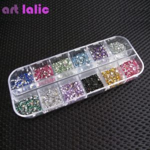ART LALIC Rhinestones Colorful Glitters DIY Nail Art Decoration