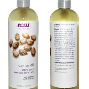 NOW SOLUTIONS Totally Pure Castor Oil Jumbo Size