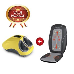 GINTELL G-Beetle Foot Massager Plus Portable Massage Cushion