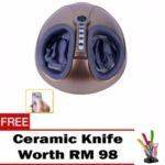 OEM Air Pressure Foot Massager Plus Heating Function & Reflexology Brown