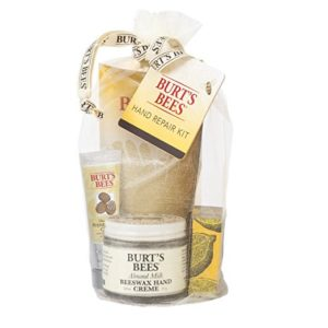 BURTS BEES 3 Hand Creams Plus Gloves Gift Set