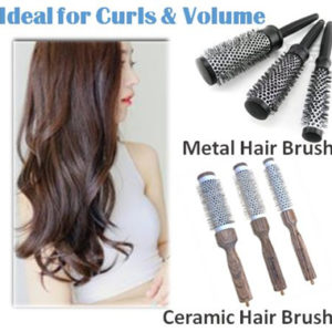Curling Volumizing Metal Hair Brush Ceramic Hair Brush