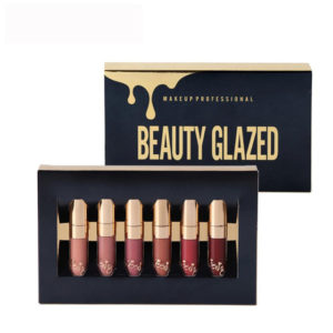 BEAUTY GLAZED Liquid Matte Lipstick 6 Pieces Set