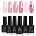 BEETLES Six Colors Pink Confetti Nail Polish Set