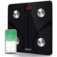 RENPHO Black Bluetooth Body Fat BMI Smart Digital Scale