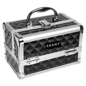 SHANY Cosmetics Dark Black Mini Makeup Train Case