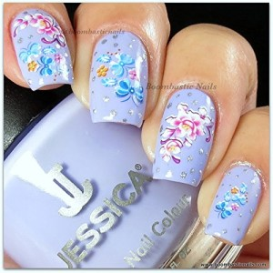 Beautiful Water Nail Tattoo Stickers