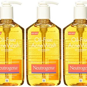 NEUTROGENA Oil Free Acne Facial Wash 3 Bottles Package
