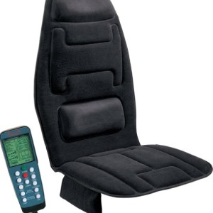 Relaxzen 60-2910 10-Motor Massage Seat Black Cushion Plus Heat
