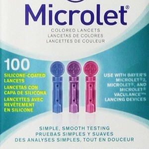 Bayer Microlet 100 Colored Lancets