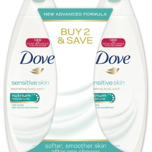 Dove Sensitive Skin Nourishing Body Wash Twin Pack