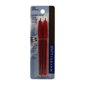 Maybelline 2 Pack Expert Eyes Twin Brow Plus Pencils Dark Brown