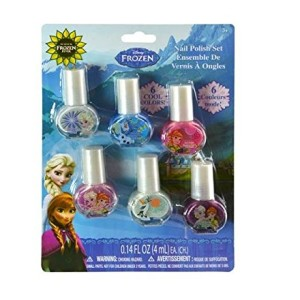 DISNEY Frozen Girl Nail Polish 6 Count Fun Safe Non Toxic