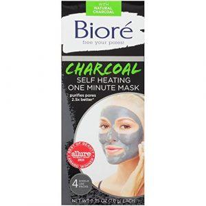 Biore Charcoal Self Heating One Minute Mask 4 Count