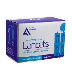 ACTIVE FORWARD Sterile Blood Lancets 30 Gauge 100 Count