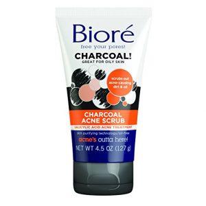 BIORE Oily Skin Charcoal Acne Scrub Plus Salicylic Acid