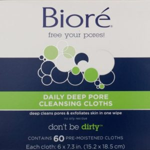 Biore Daily Deep Pore Cleansing Cloth 60 Count
