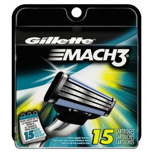 Gillette Mach3 Base Cartridges 15 Count