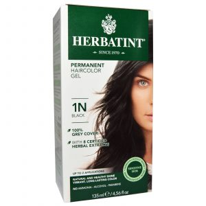 Herbatint Permanent Herbal Hair Color Gel 1N Black